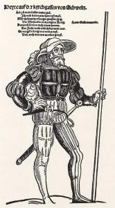 "Erhard Schoen: ""Reisläufer mit Katzbalger"", 1535"